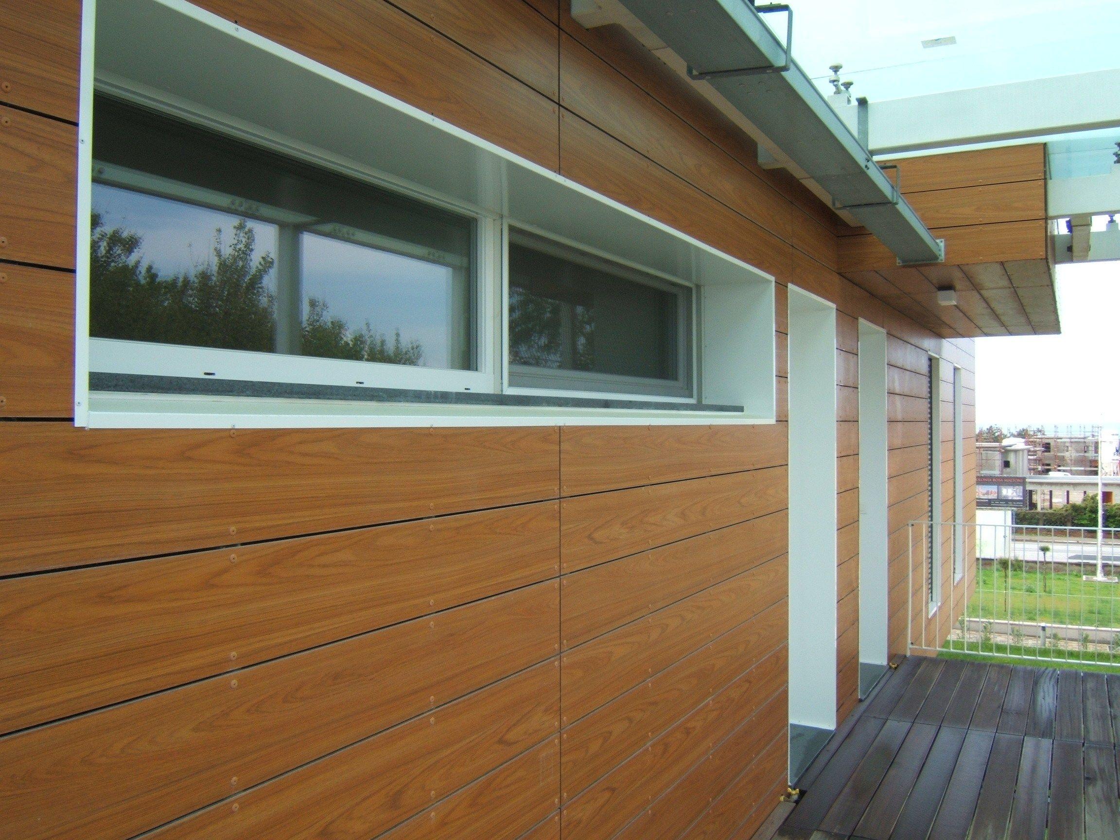 lastra di rivestimento in laminato plastico opaco fundermax exterior by kalikos. Black Bedroom Furniture Sets. Home Design Ideas