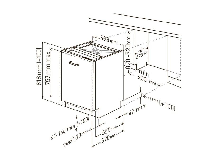 Amazing Dimensioni GNV 41825 | Lavastoviglie