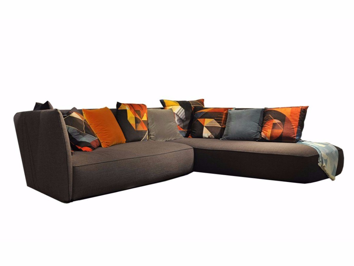 Corner fabric sofa grapher by roche bobois design giorgio for Roche bobois milano