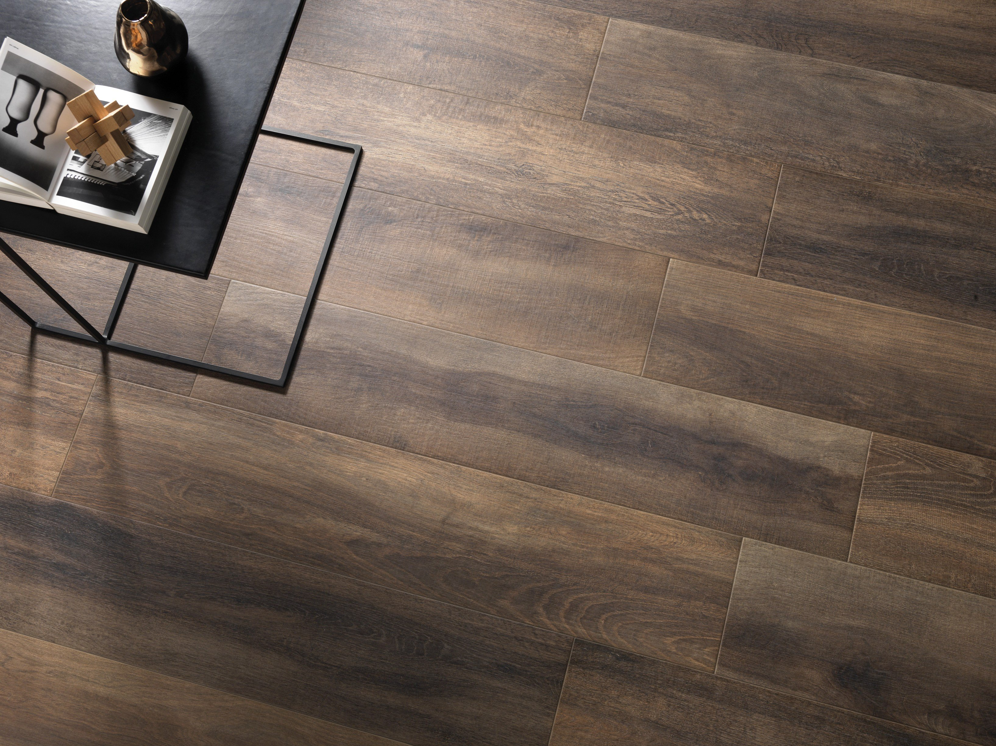 Glazed stoneware flooring with wood effect greenwood by - Ceramica rondine ...