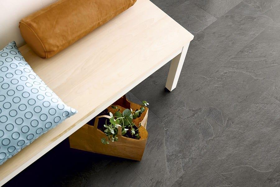 Vinyl Flooring With Stone Effect Grey Scivaro Slate Tile
