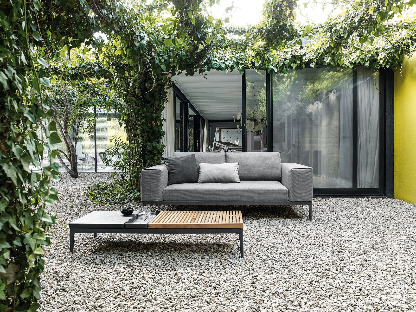 grid sofa grid outdoor lounge collection by gloster