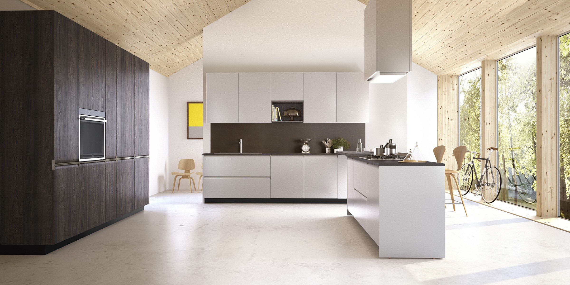 Gibilterra kitchen with integrated handles by del tongo - Cucina del tongo ...