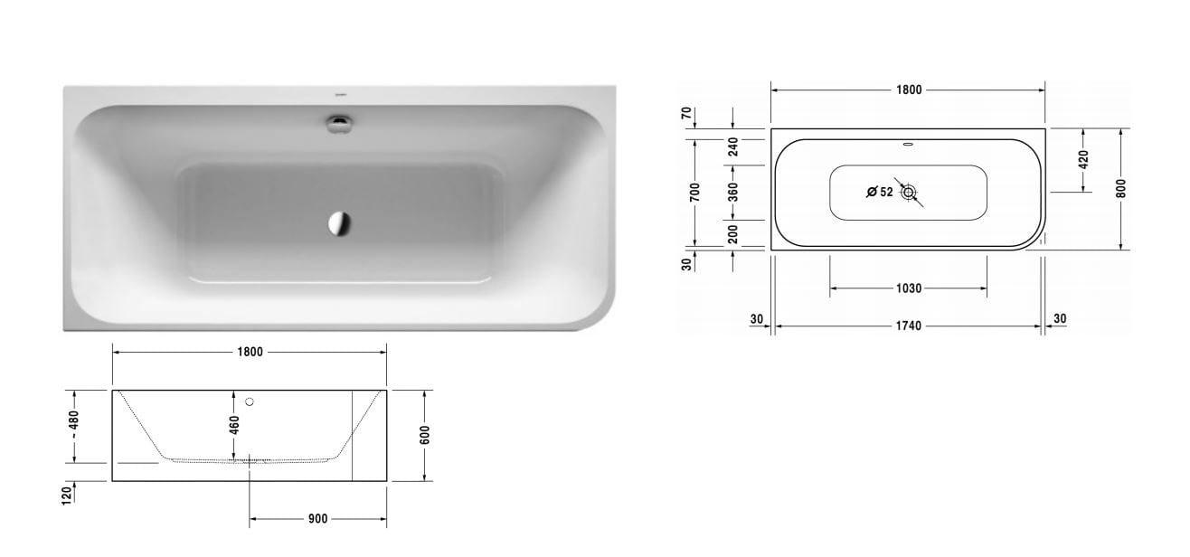 HAPPY D.2 | Vasca da bagno angolare By Duravit design Sieger Design