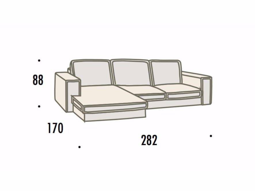 Larghezza divano fabulous divano misure descrizione with for Divano rivarolo