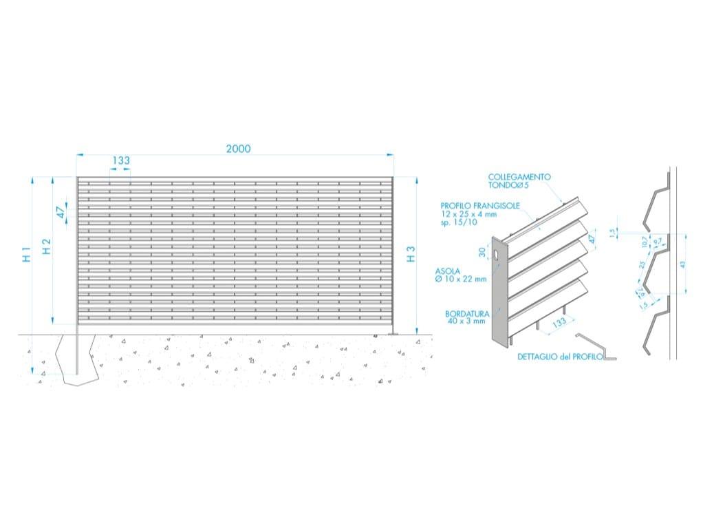 Recinzione modulare horizon by grigliati baldassar for Baldassar recinzioni