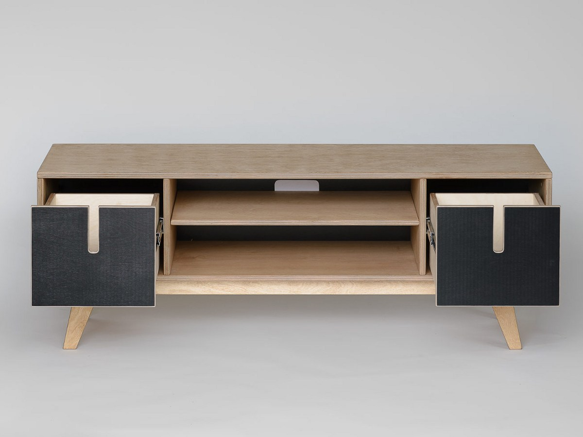 Plywood Tv Stand Designs : Huh tv cabinet by radis design raul abner