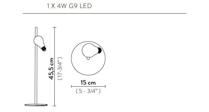 Dimensioni IDEA | Lampada da tavolo