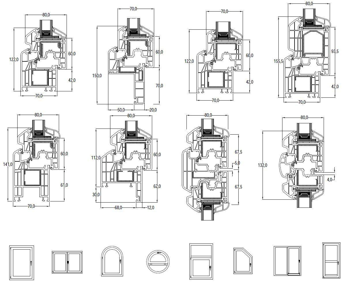 Dimensioni IN'ALPHA PRESTIGIO | Finestra in PVC