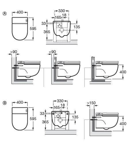 Wc suspendu dimension charmant wc suspendu dimensions for Fenetre wc dimensions