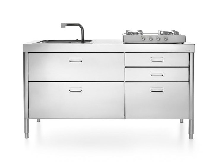 CUCINA 250 | Stainless steel kitchen By ALPES-INOX