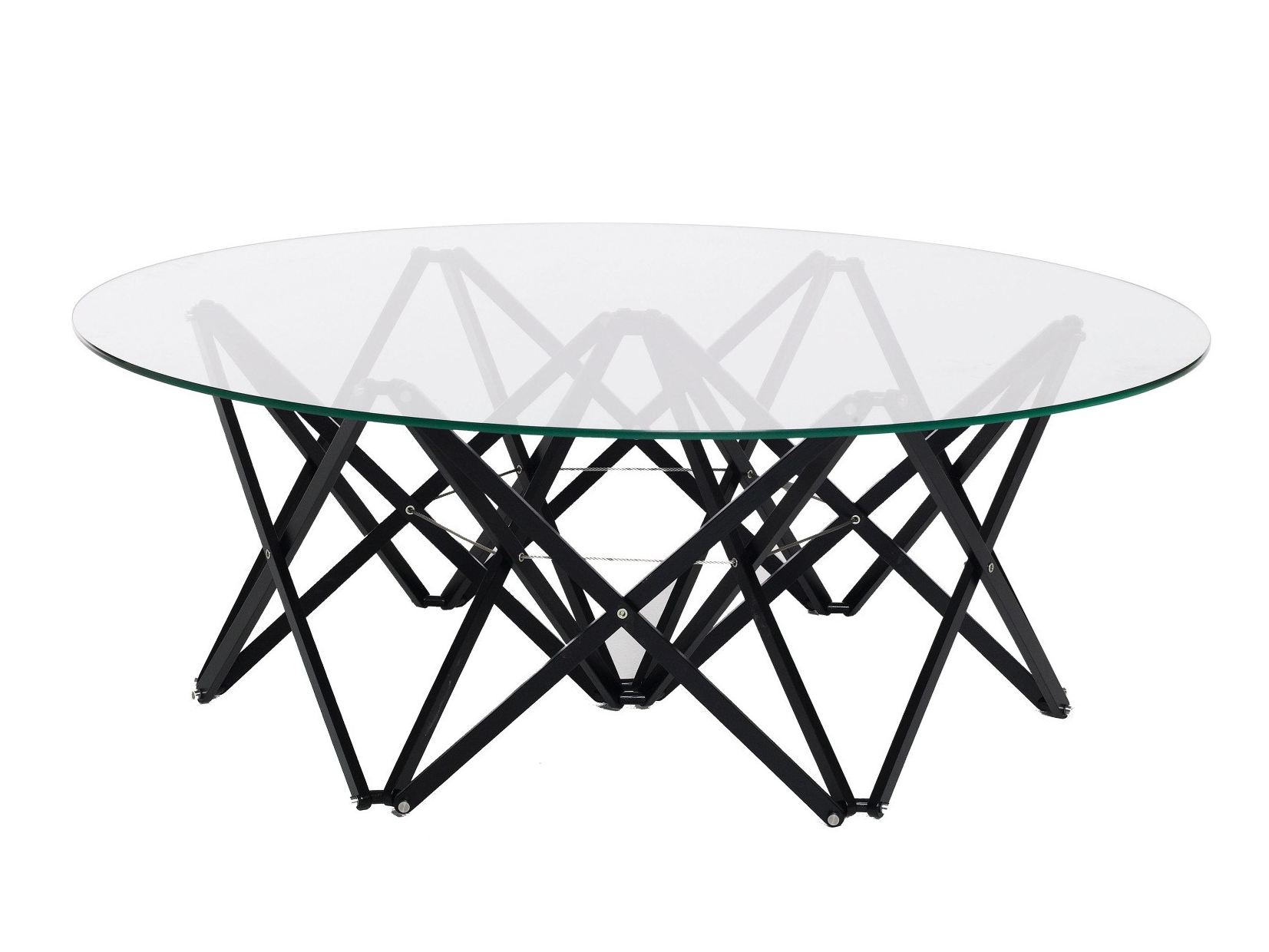 Low round glass coffee table NEWTON By Karl Andersson design Dan