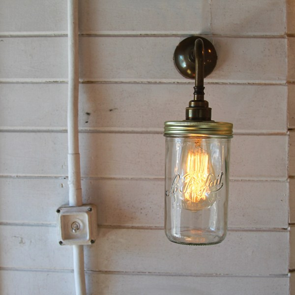 jam jar wall light by mullan lighting