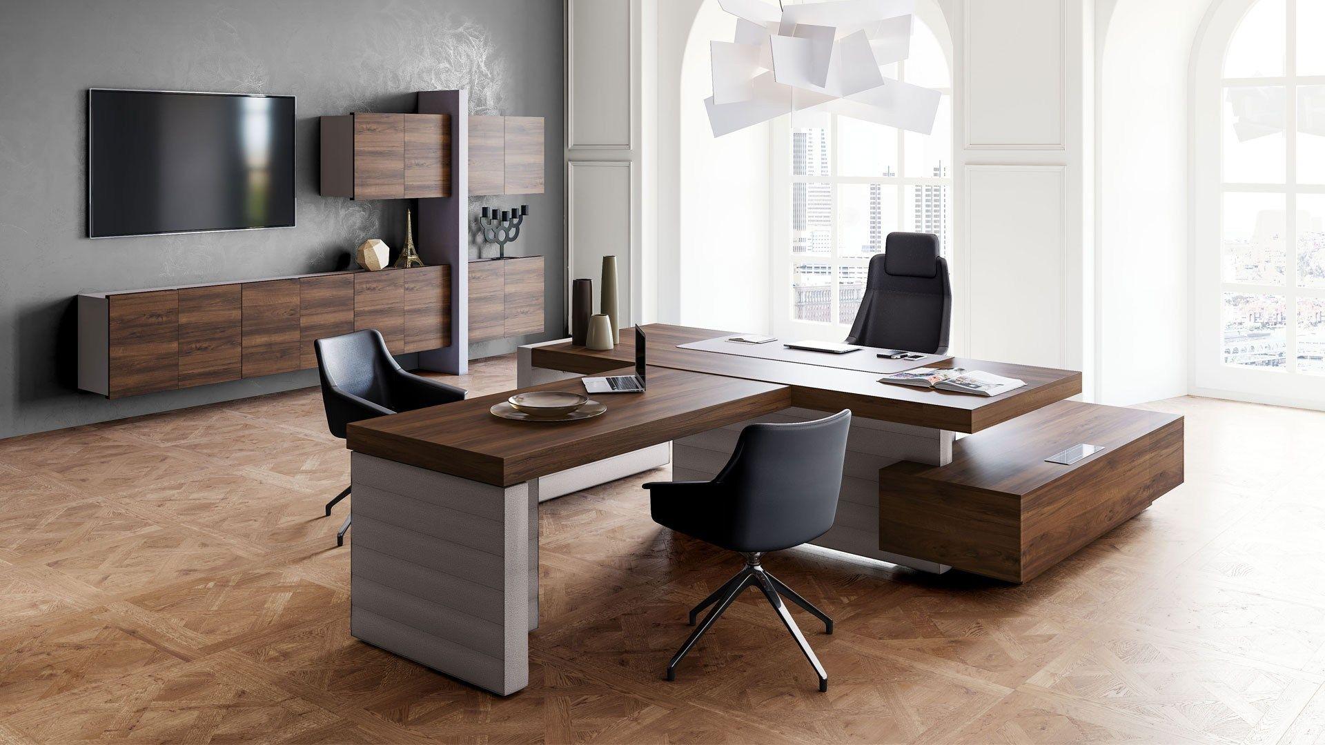 Jera scrivania con scaffale integrato by las mobili for Las mobili ufficio