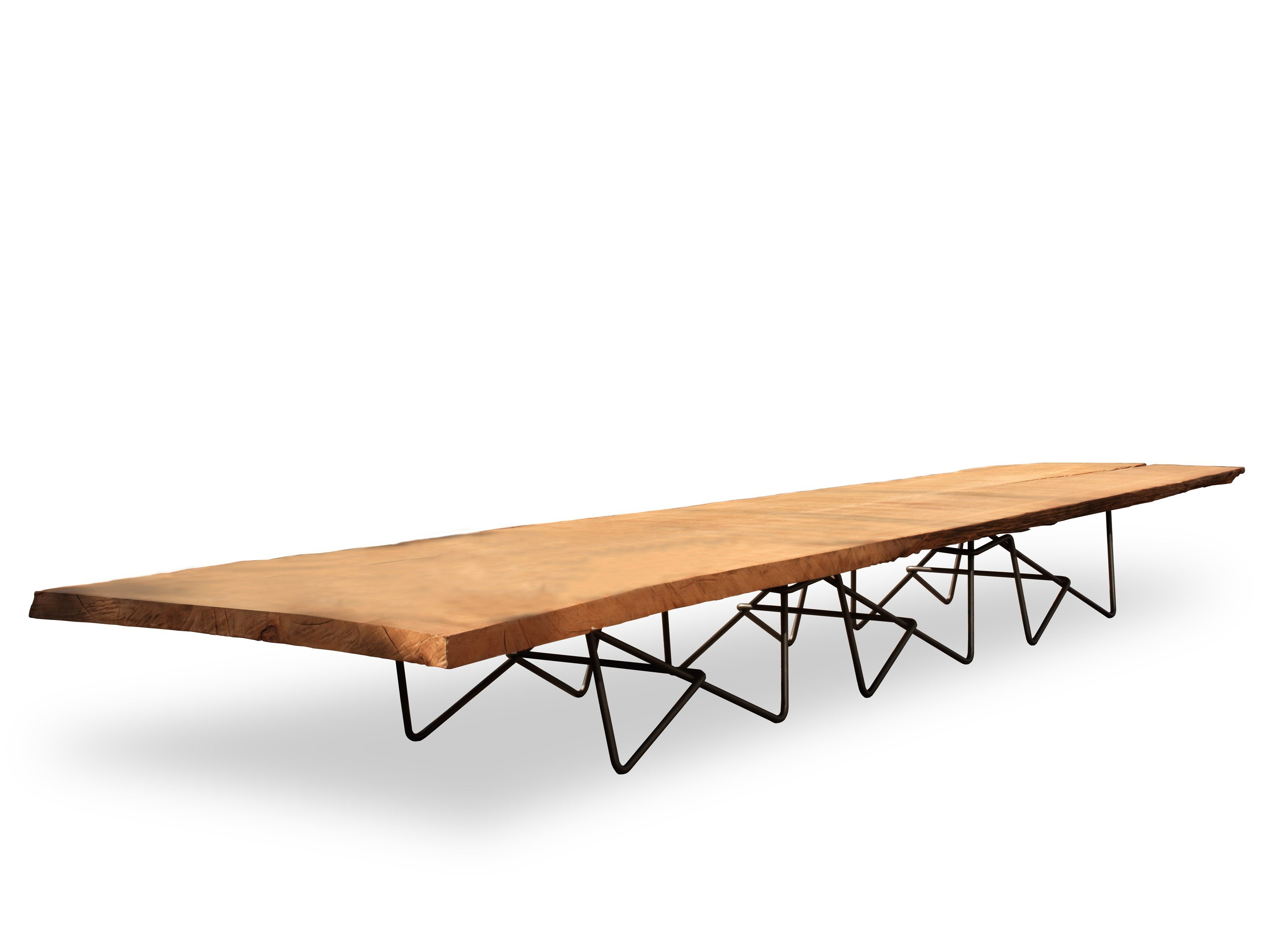 Round Kauri wood and resin table EARTH By Riva 1920 design Renzo