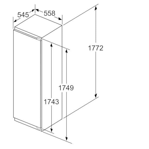 Beau Dimensions KI1816D30 | Refrigerator Class A + + ...