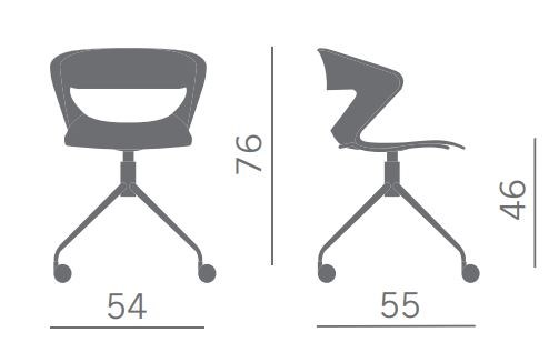 Kicca Office Chair With Castors Kicca Collection By Kastel