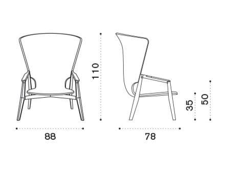 Dimensions KNIT | High-back garden armchair
