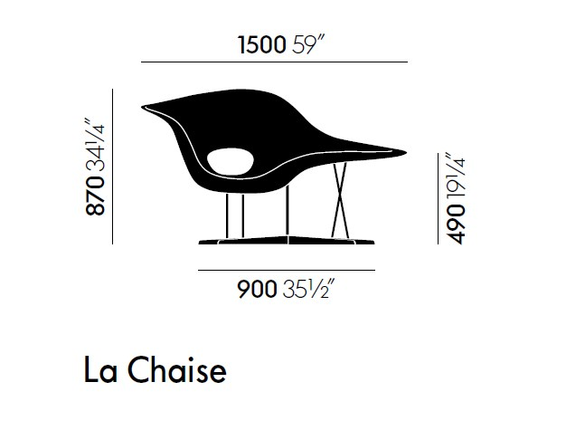 Design Polyurethane Armchair La Chaise By Vitra Design Charles Eames