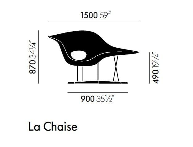 Design Polyurethane Armchair La Chaise By Vitra Design Charles Eames