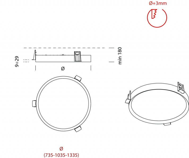 Dimensions lbs recessed ceiling lamp
