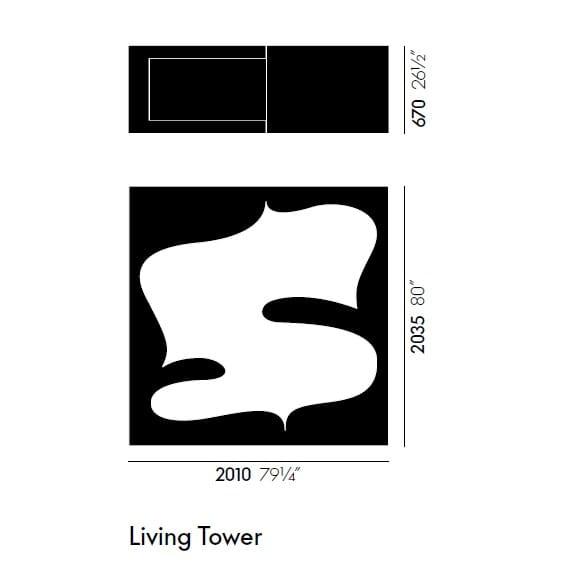 Polyurethane foam room divider LIVING TOWER By Vitra design Verner ...