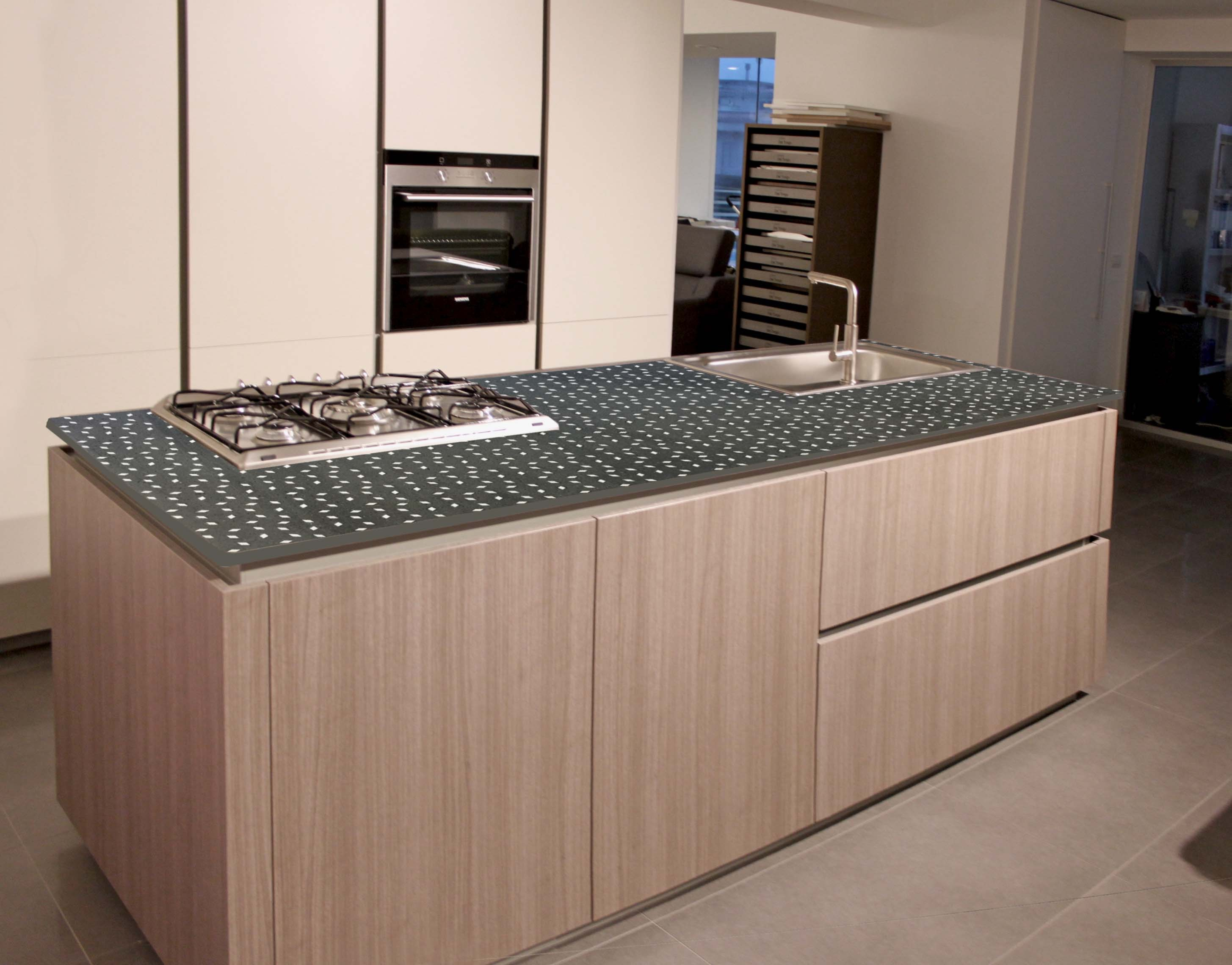 Top cucina in pietra lavica By Sgarlata