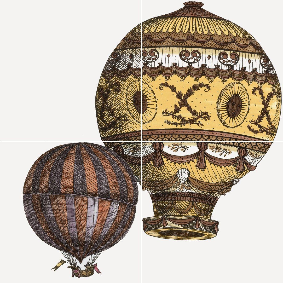 Rivestimento in ceramica macchine volanti by ceramica bardelli - Piastrelle fornasetti ebay ...