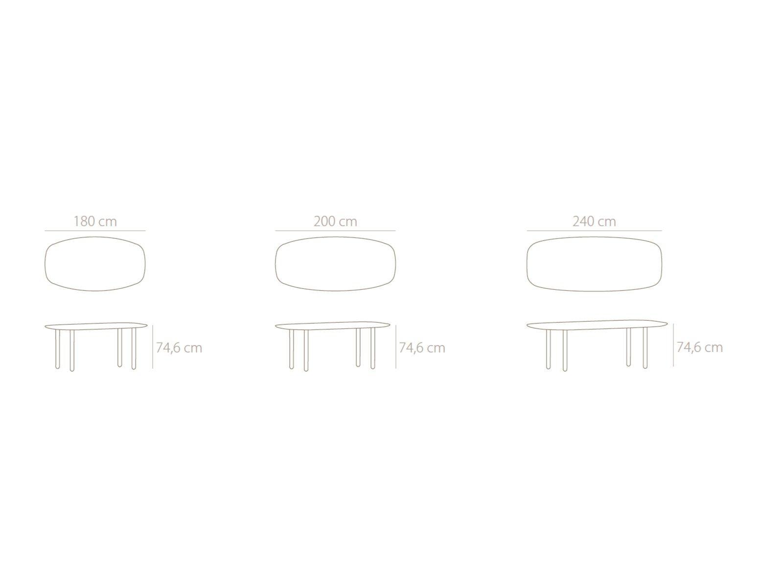 Dimensions MAEDA | Oval Table