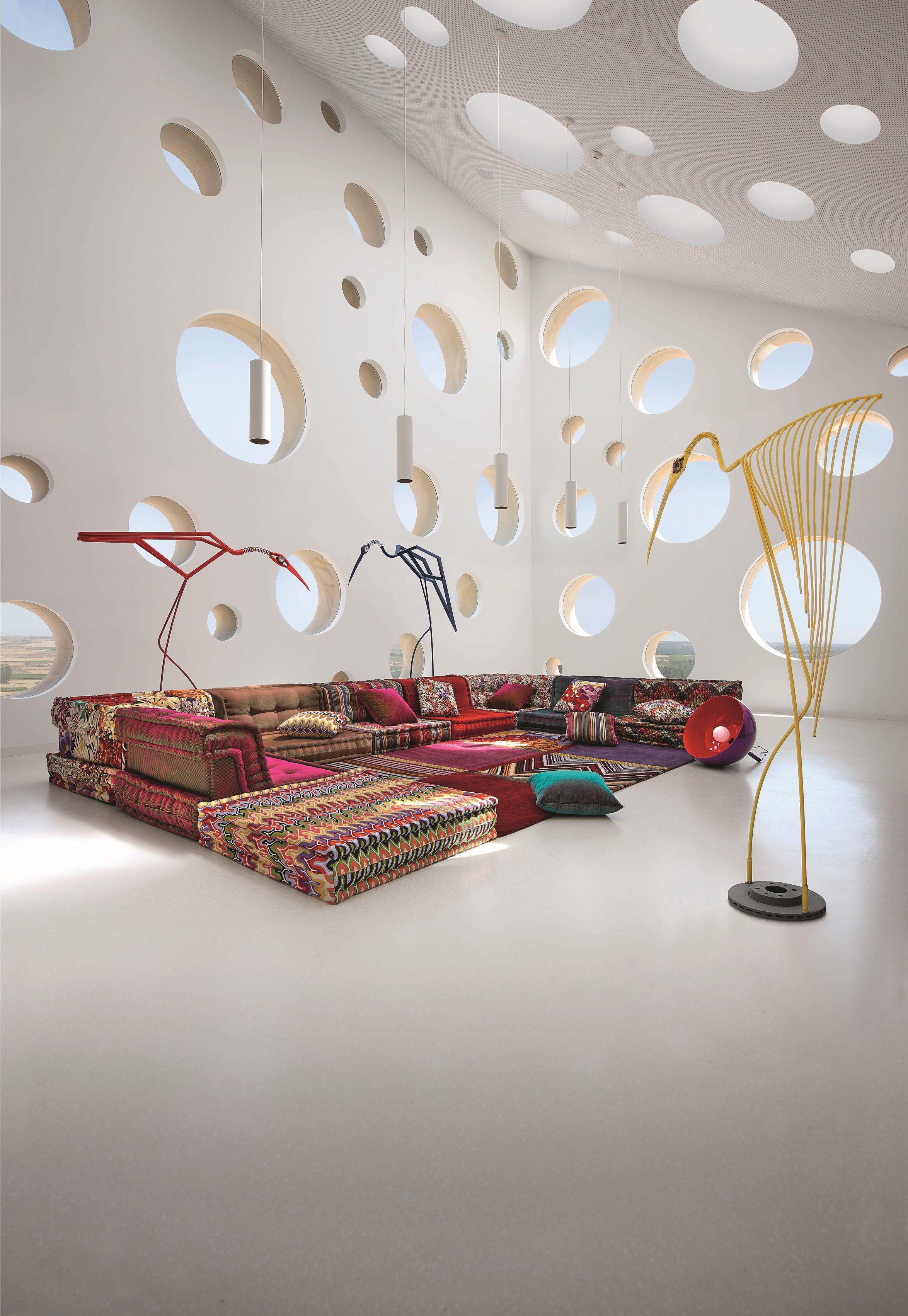 Anbausofa aus Stoff MAH JONG MISSONI HOME By ROCHE BOBOIS Design ...