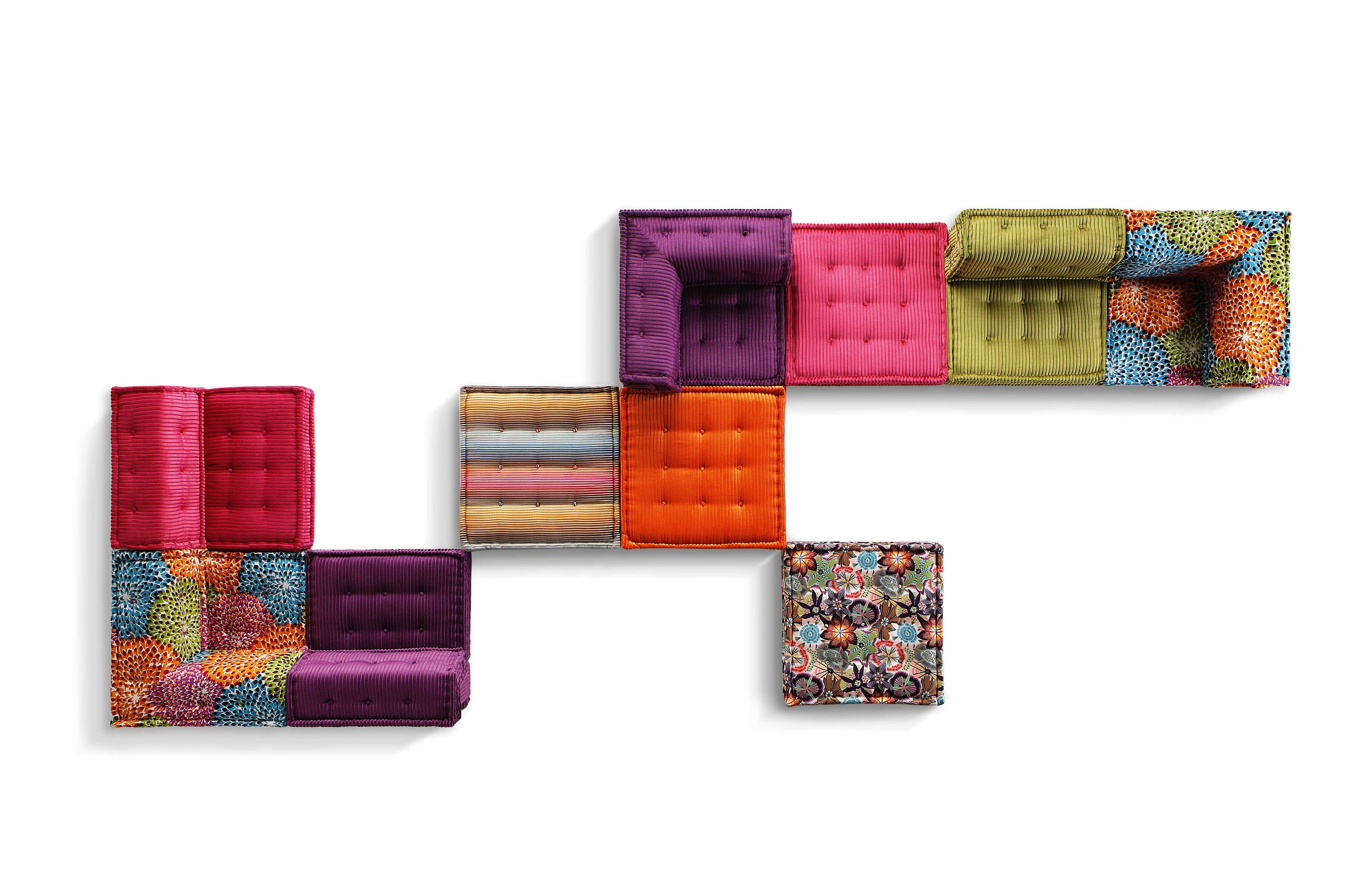 Sectional Fabric Sofa Mah Jong Missoni Home By Roche Bobois Design Hans Hopfer