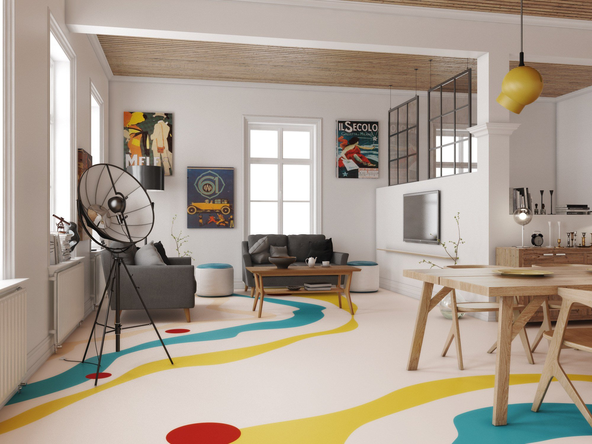 Pavimento continuo in resina mapefloor comfort system by mapei for Resina mapei
