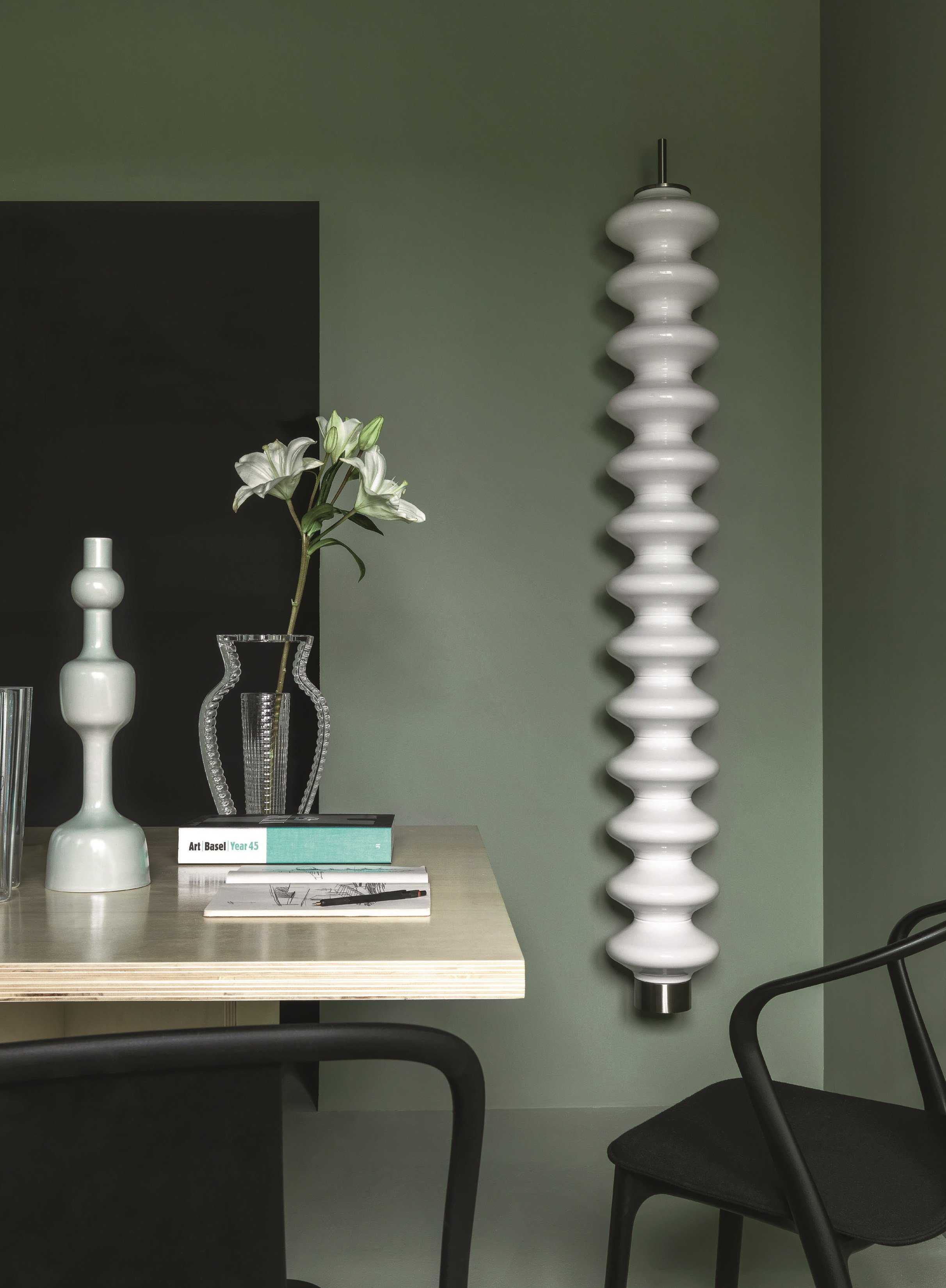 Milano wall mounted decorative radiator by tubes for Termosifoni tubes