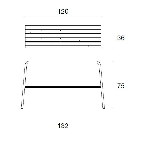 Dimensions MILLERIGHE | Console table