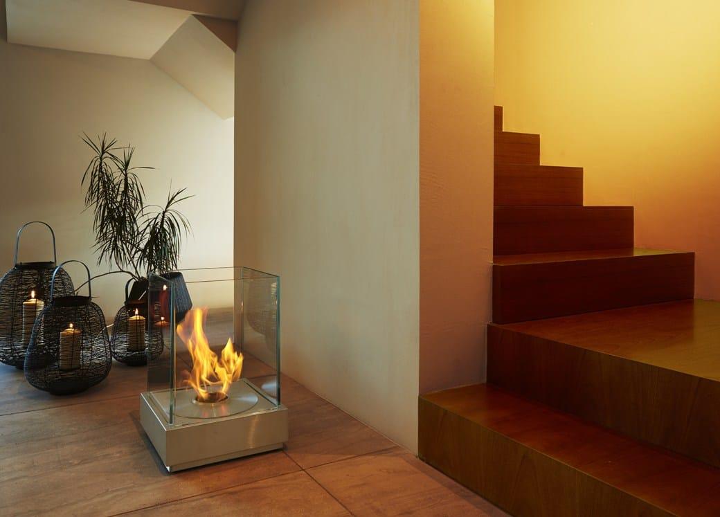 Chimenea para exteriores de bioetanol mini t by ecosmart fire - Chimeneas para exteriores ...