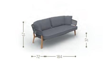 Dimensions MOON   Garden sofa