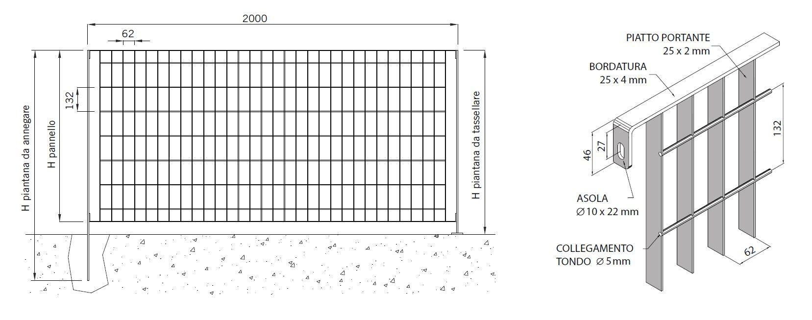 Recinzione modulare in acciaio multisar 2 3 4 by grigliati for Baldassar recinzioni