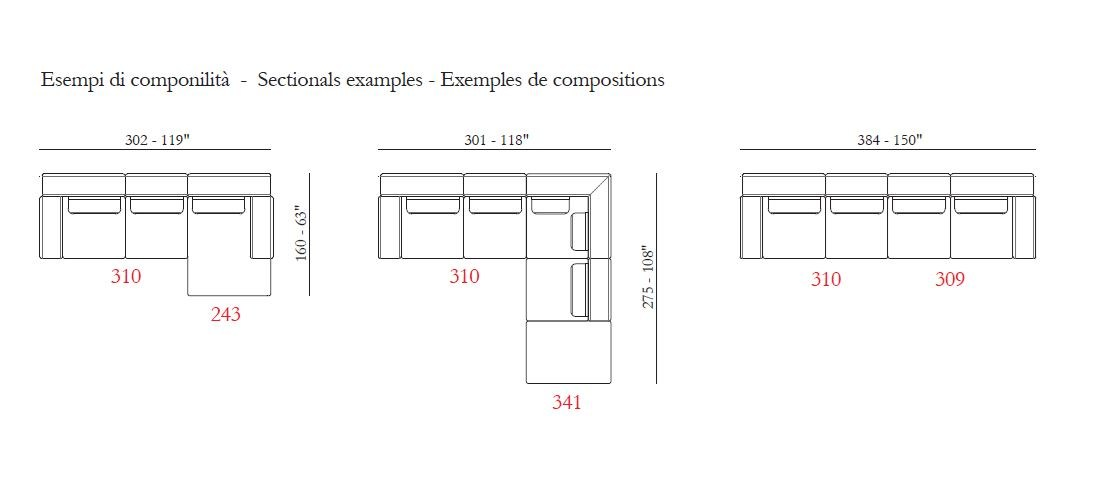 Nando divano a 2 posti by max divani - Divano 2 posti dimensioni ...