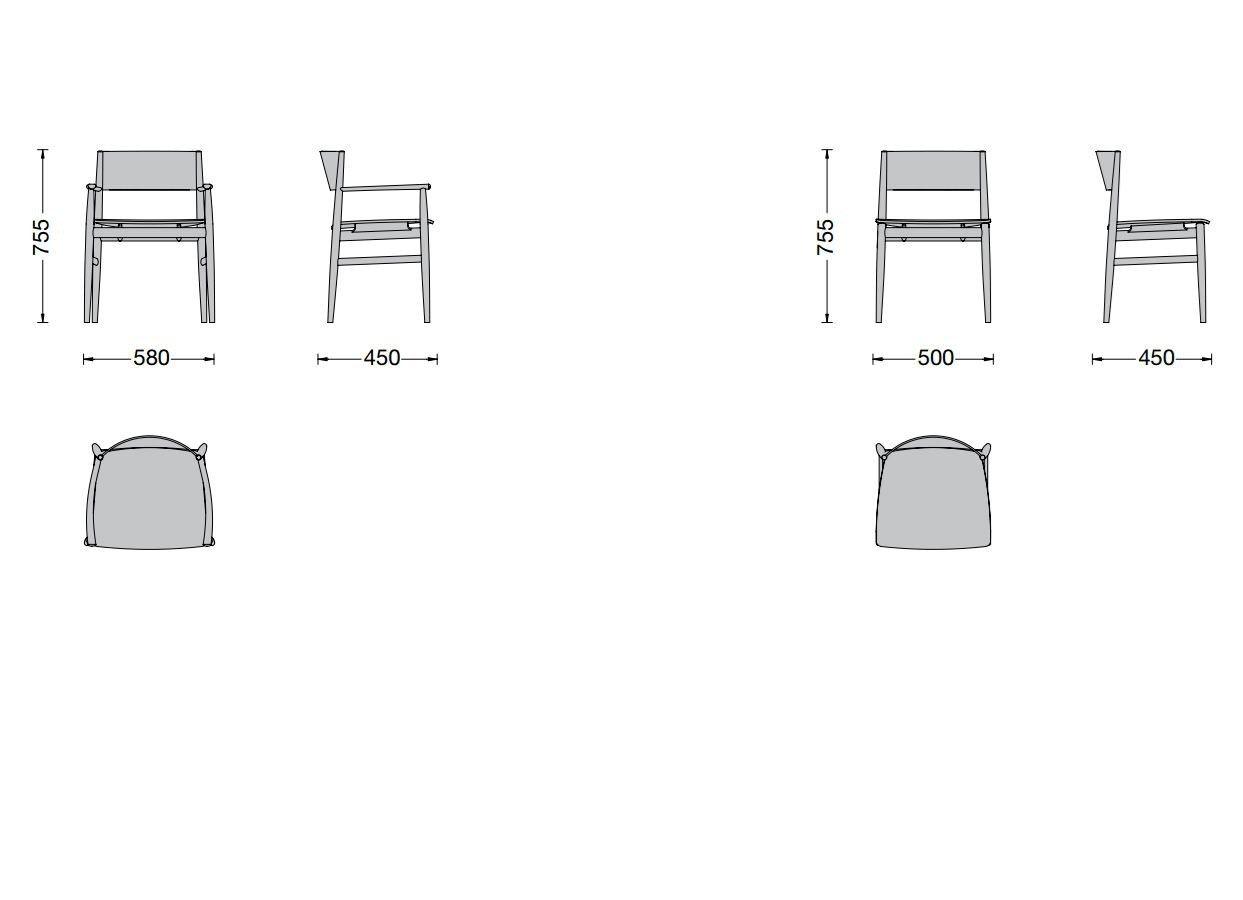 Neve silla by porro dise o piero lissoni - Dimensioni sedia ...