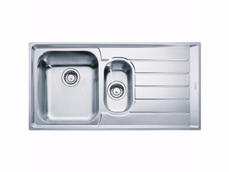 Lavello a una vasca e mezzo da incasso in acciaio inox con ...