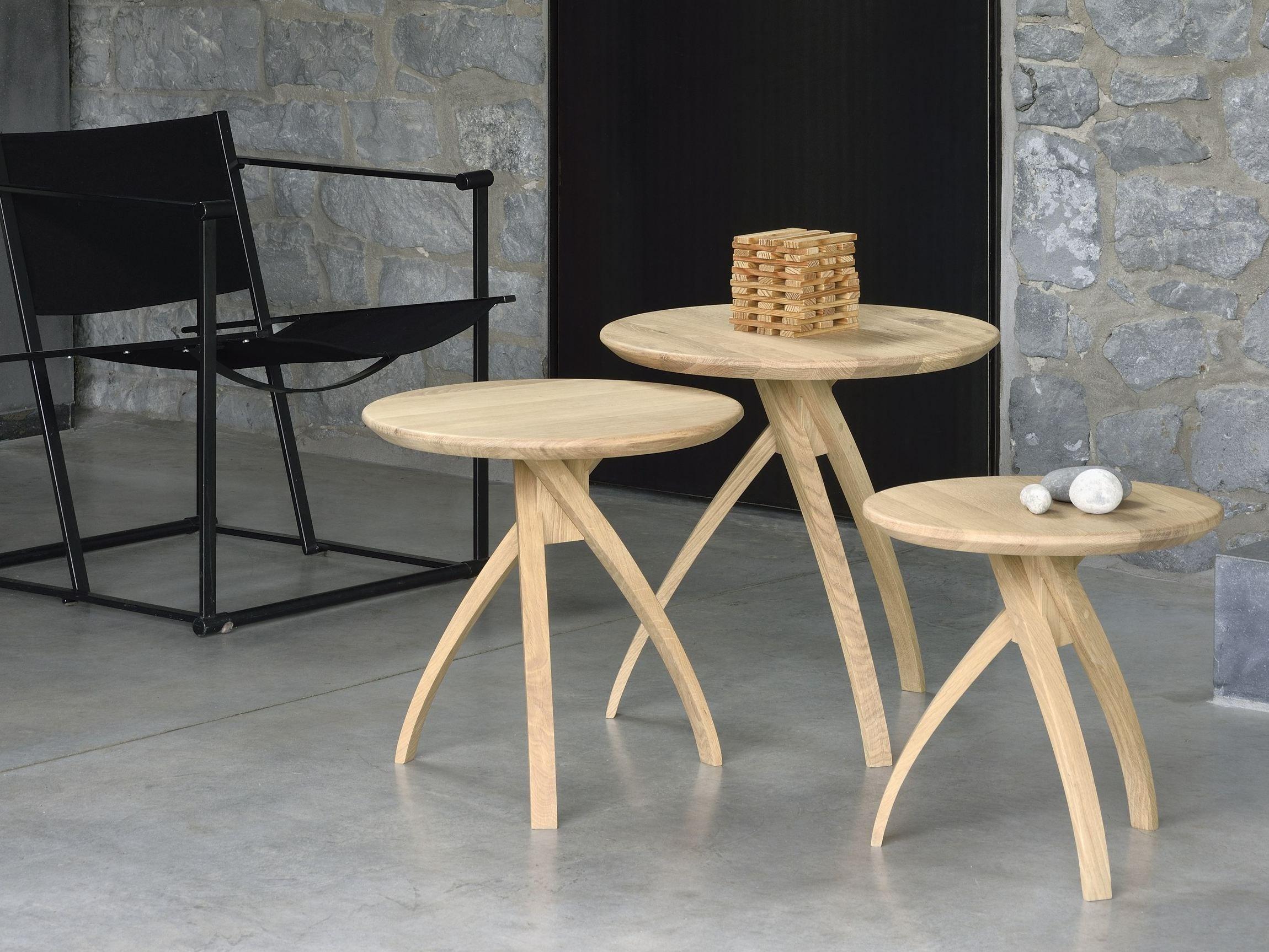 oak tripod table | coffee table by ethnicraft