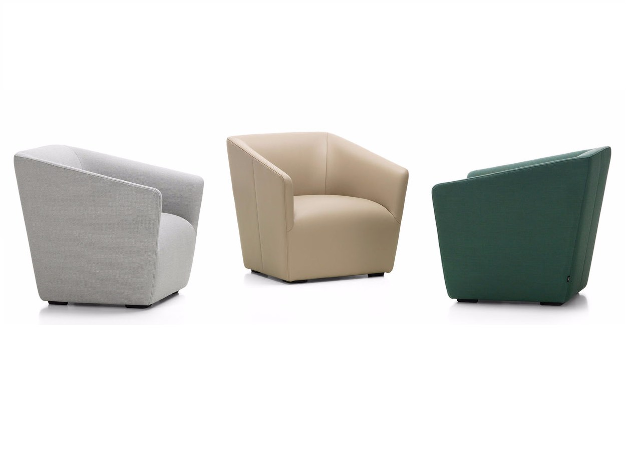 Upholstered fabric armchair AMOEBE By Vitra design Verner Panton