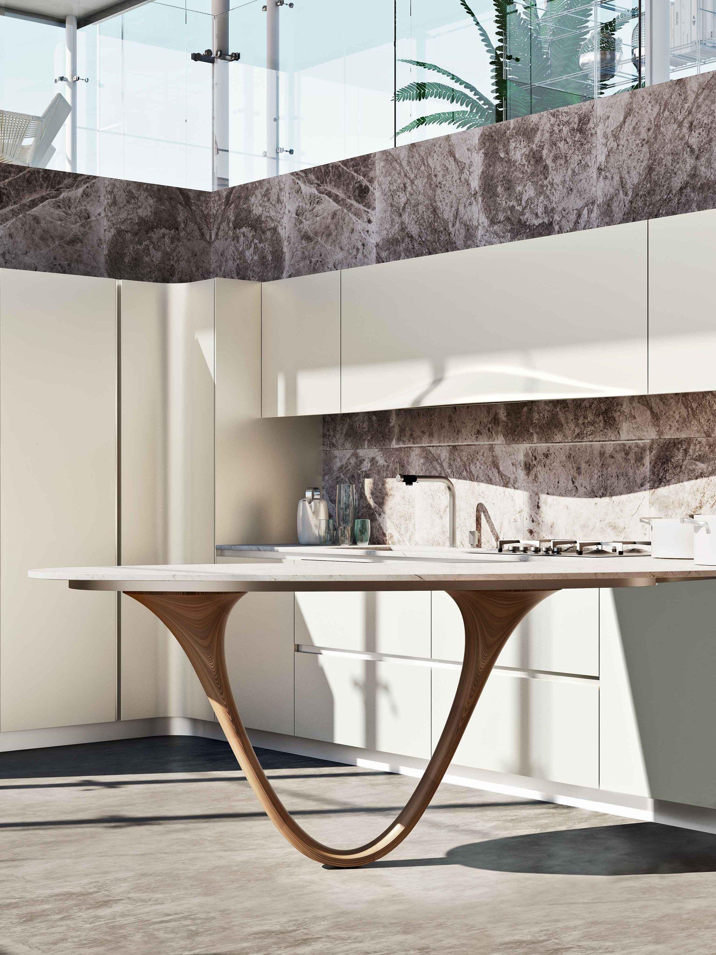 OLA 20 | Küche Mit Halbinsel Kollektion ICONE By Snaidero Design Pininfarina