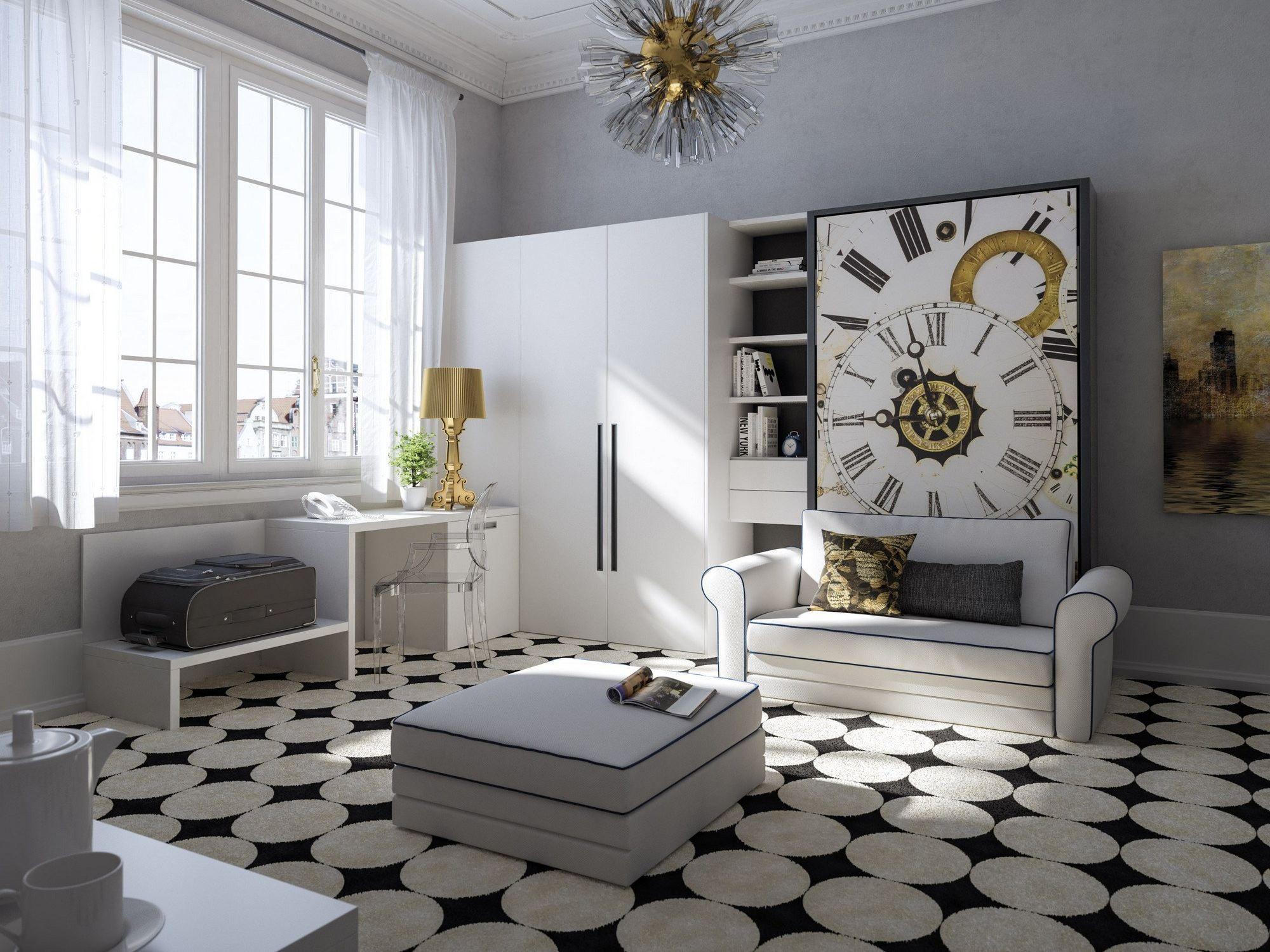 Cool parete attrezzata con scrivania with parete attrezzata con scrivania - Parete attrezzata con scrivania ...