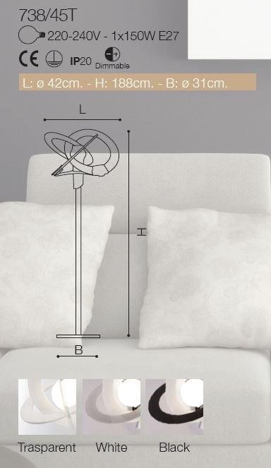 ORBIT | Floor lamp By Cattaneo