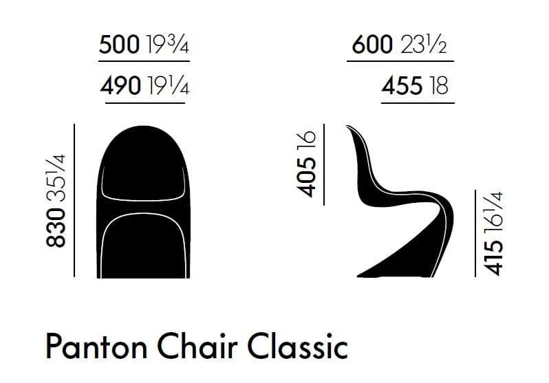 Stuhl aus Polyurethanschaum PANTON CHAIR CLASSIC By Vitra Design ...
