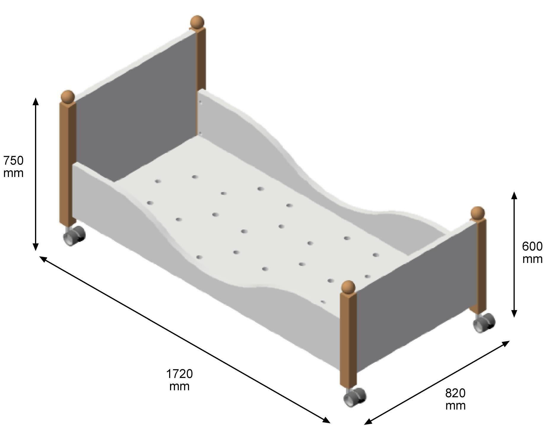 Lit simple en bois massif pour chambre d enfant PISOLO By dearkids