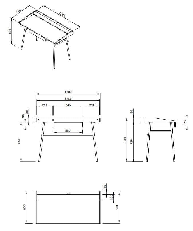 Ply Secretary Desk With Drawers By, Secretary Desk Dimensions