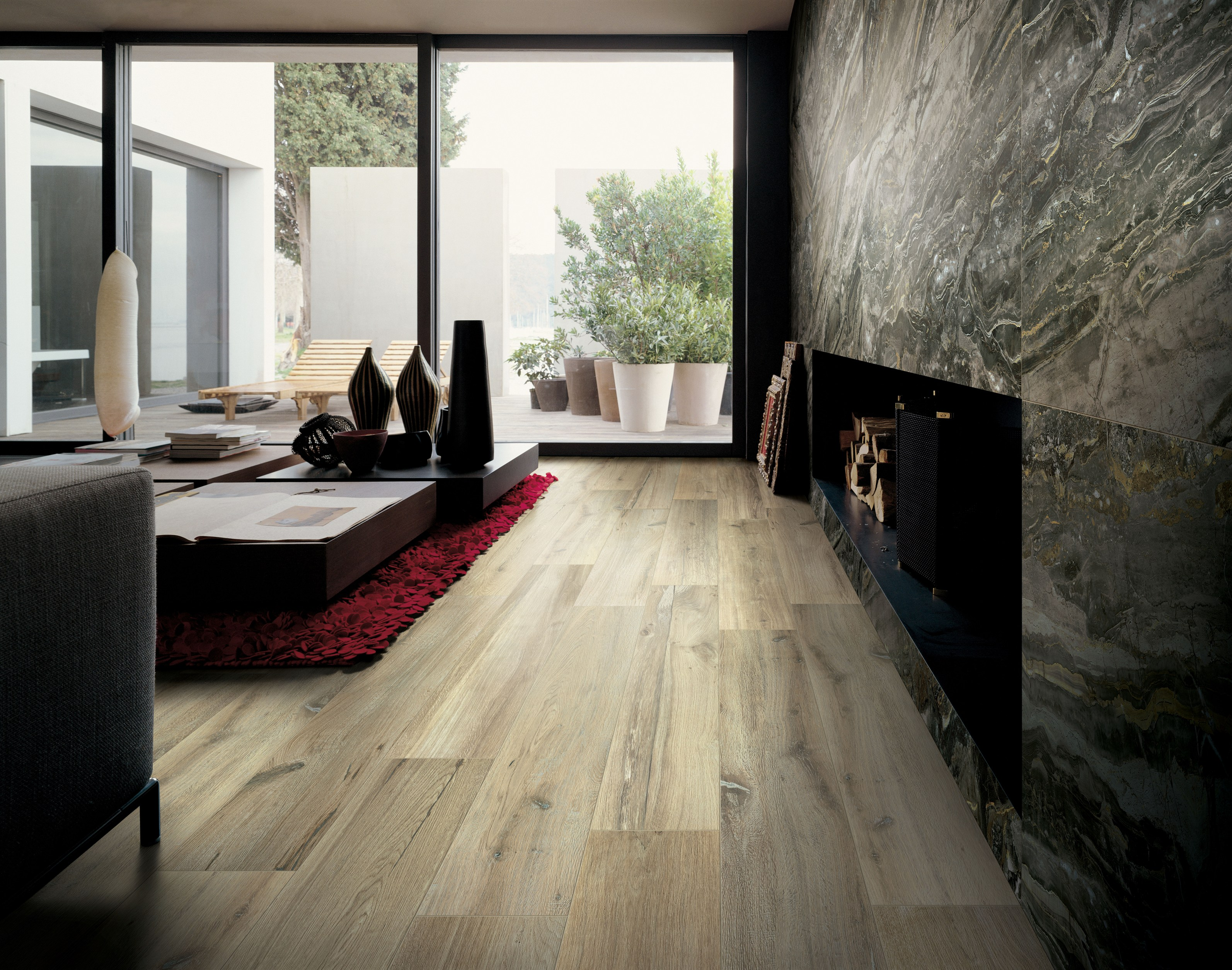 Porcelain stoneware wall floor tiles with marble effect for Carrelage rex