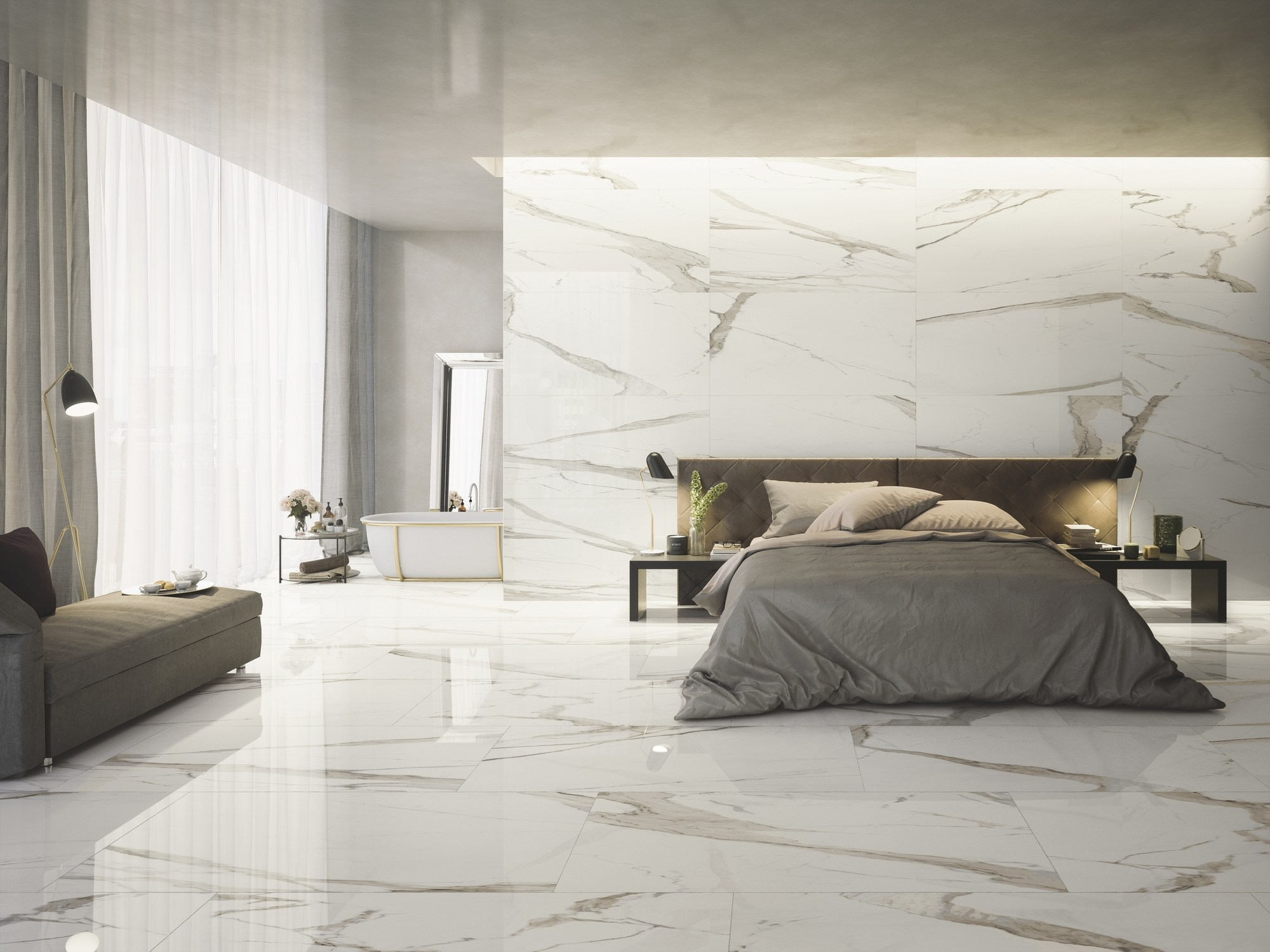 Pavimento rivestimento in gres porcellanato effetto marmo prestigio by ceramiche refin - Piastrelle gres porcellanato effetto marmo ...